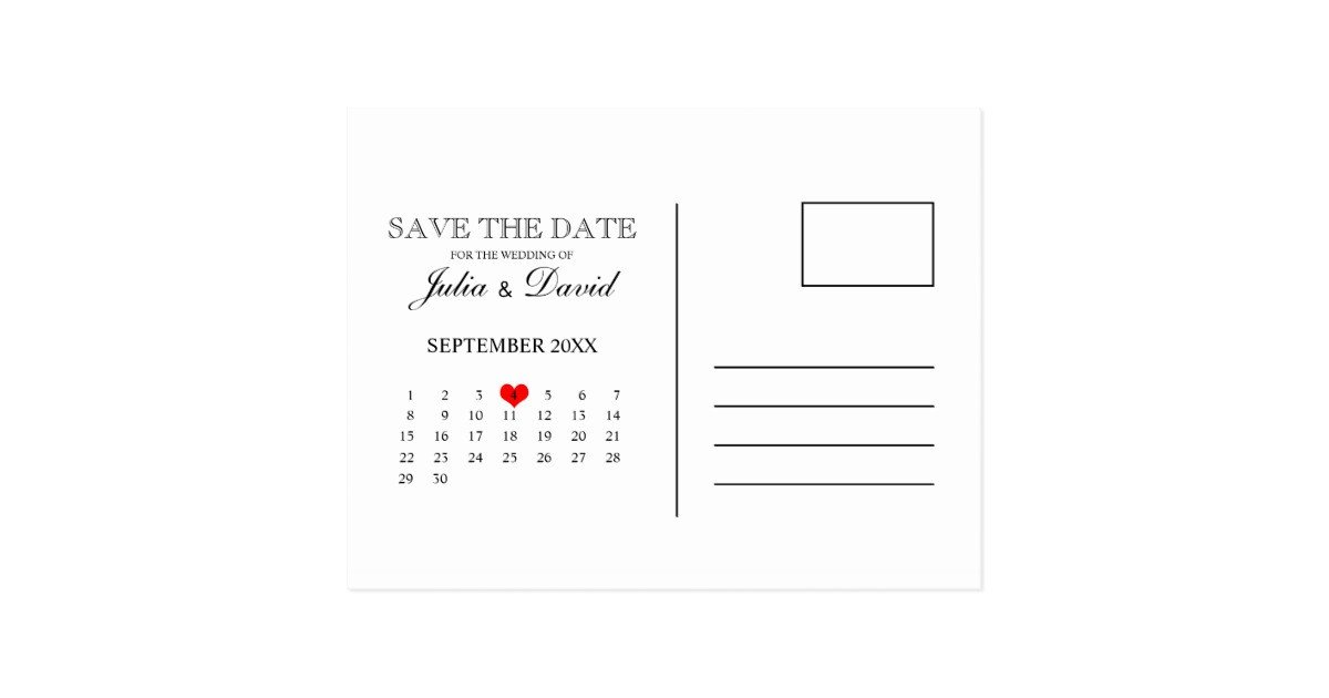 Save the Date Postcard Templates Calendar Save the Date Postcard Template