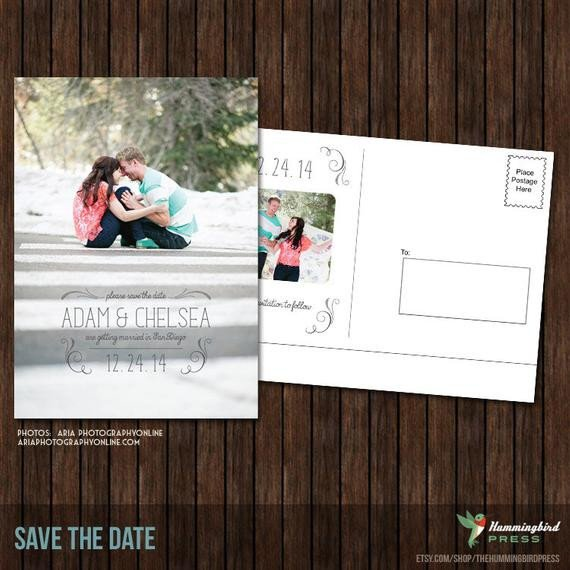 Save the Date Postcard Templates Items Similar to 5x7 Save the Date Postcard Template S22