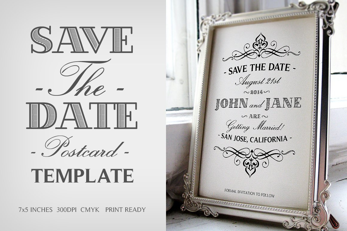 Save the Date Postcard Templates Save the Date Postcard Template V 1 Wedding Templates