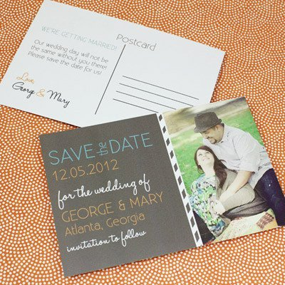 Save the Date Postcard Templates Save the Date Postcard Template with & Chalkboard