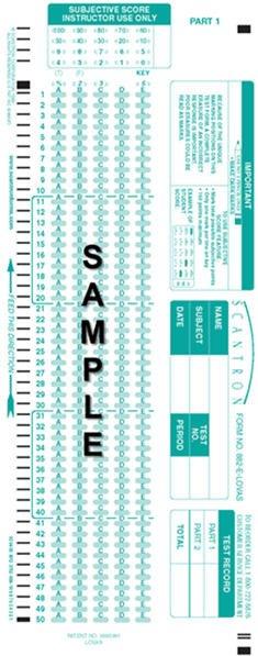 Scantron forms Office Depot Scantron F 288 Par L