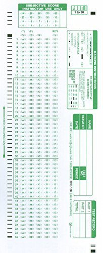 Scantron forms Office Depot Scantron Item 882 E 100 Question Patible Testing forms
