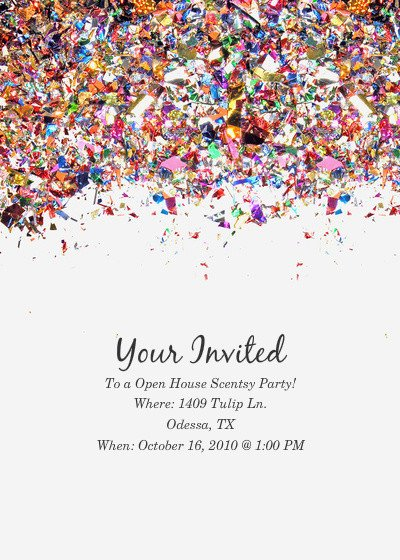 Scentsy Party Invitation Template Open House Scentsy Party Line Invitations & Cards by