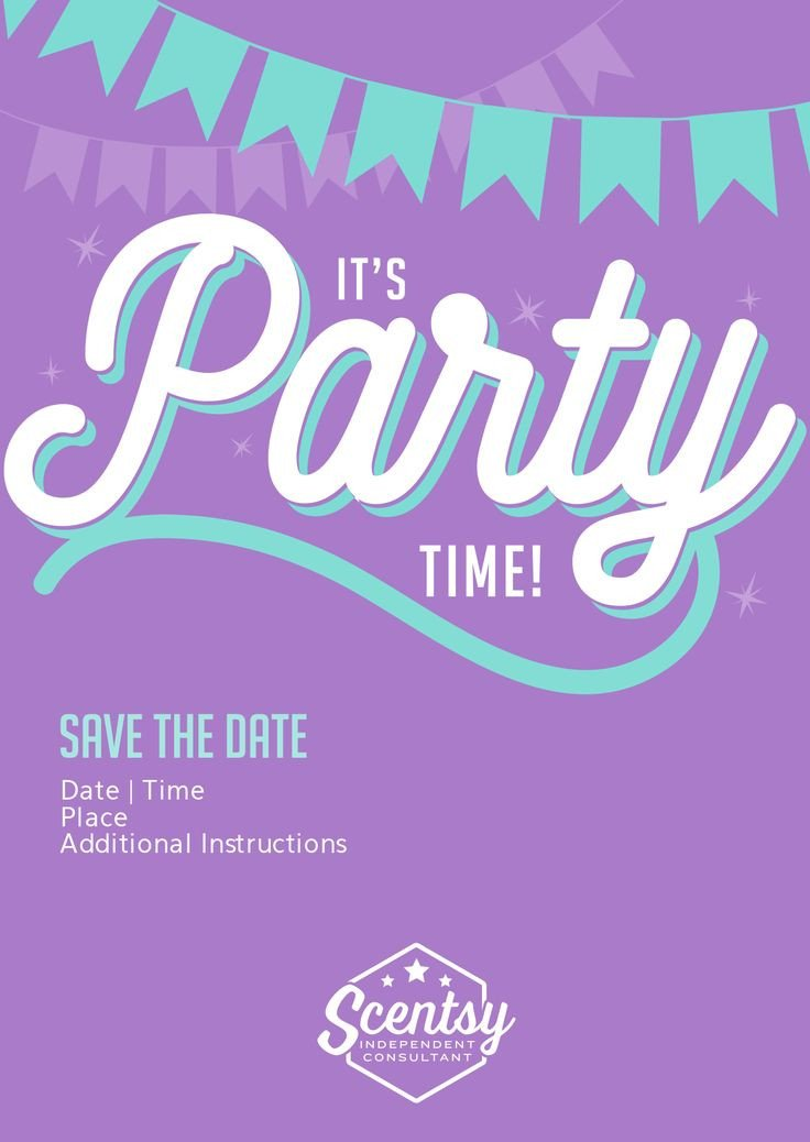 Scentsy Party Invitation Template Scentsy Party Invitation