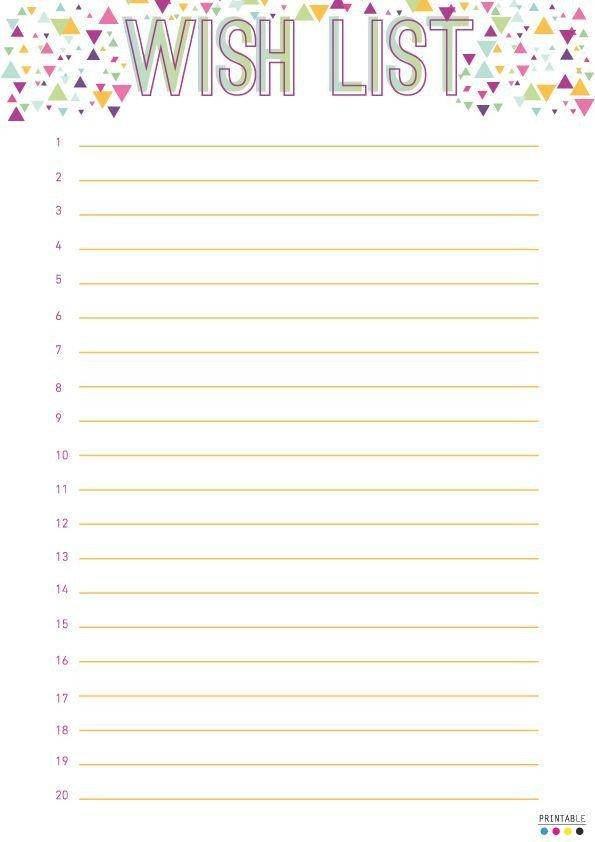 Scentsy Wish List Free Printable Christmas Wish List Templates