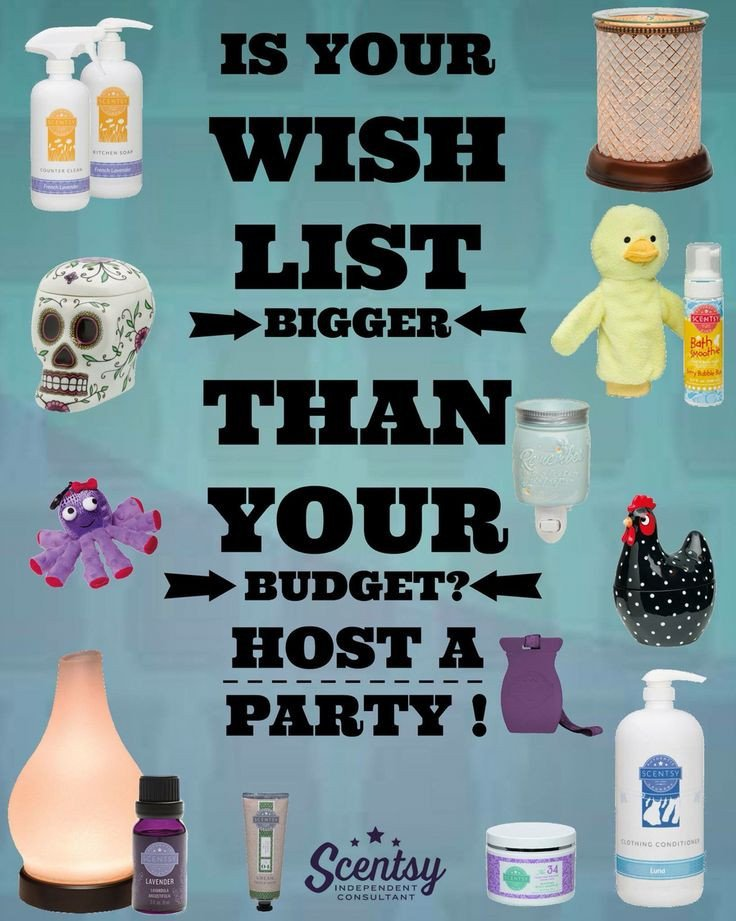 Scentsy Wish List is Your Scentsy Wish List Bigger Than Your Bud Host A