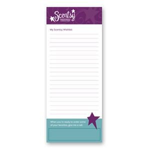 Scentsy Wish List Wish List Notepads Scentsy Pinterest