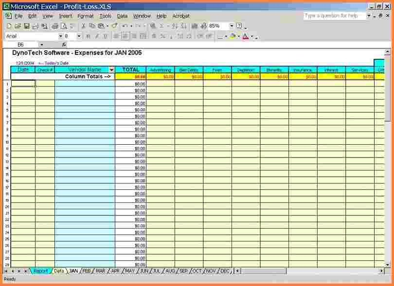 Schedule C Excel Template 5 Business Expense Tracking Spreadsheet