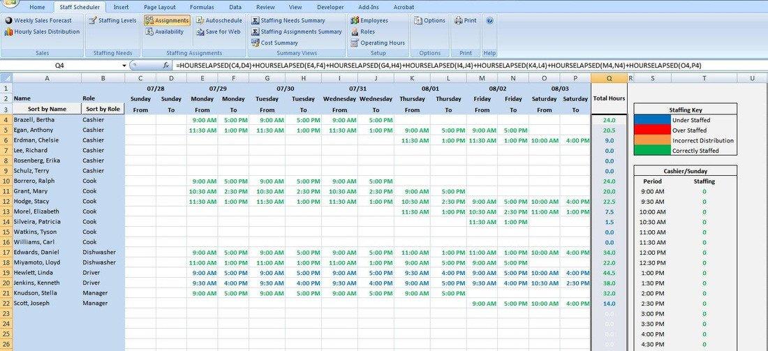 Schedule C Excel Template Excel Scheduling