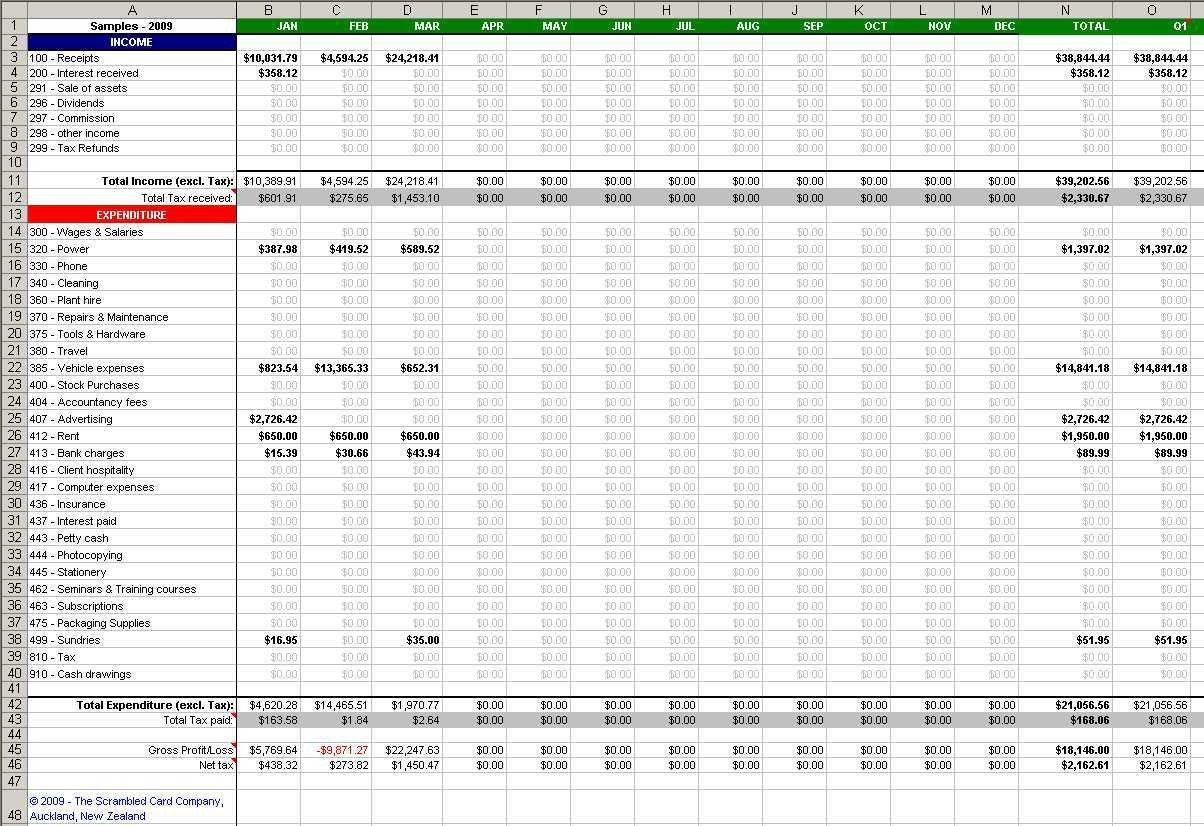 Schedule C Excel Template Revenue Worksheet Template