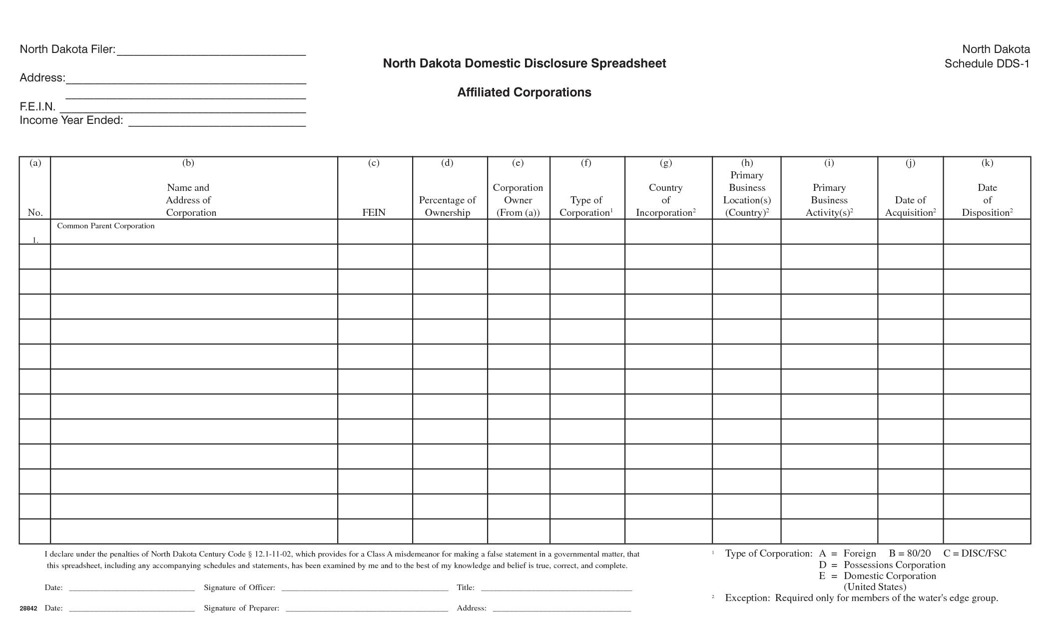 Schedule C Excel Template Schedule C Excel Template