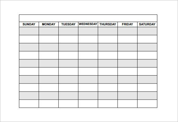 Schedule Of Availability Template Availability Schedule Template