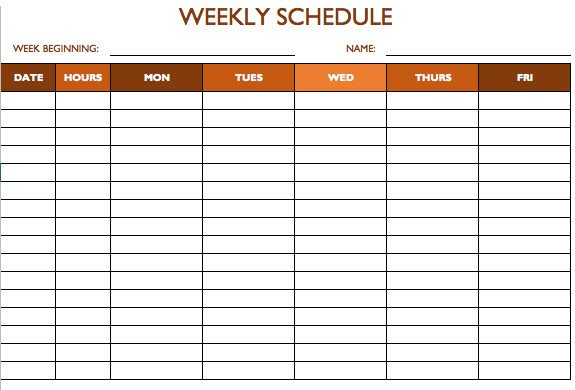 Schedule Of Availability Template Free Work Schedule Templates for Word and Excel