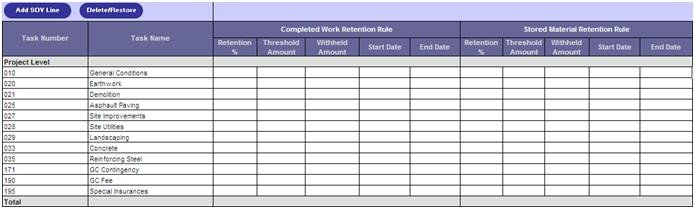 Schedule Of Values Template Schedule Values Template