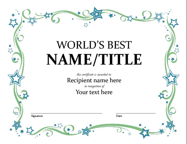 Scholarship Certificate Template Free World S Best Award Certificate