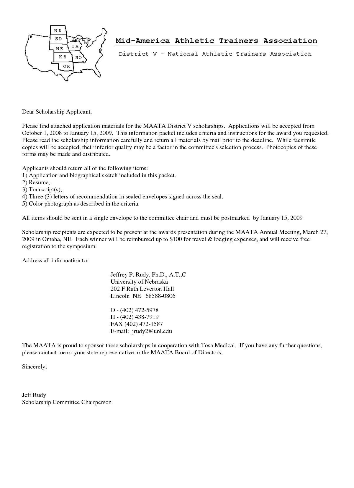 Scholarship Cover Letter Sample Sample Cover Letters for Scholarships Cover Letter