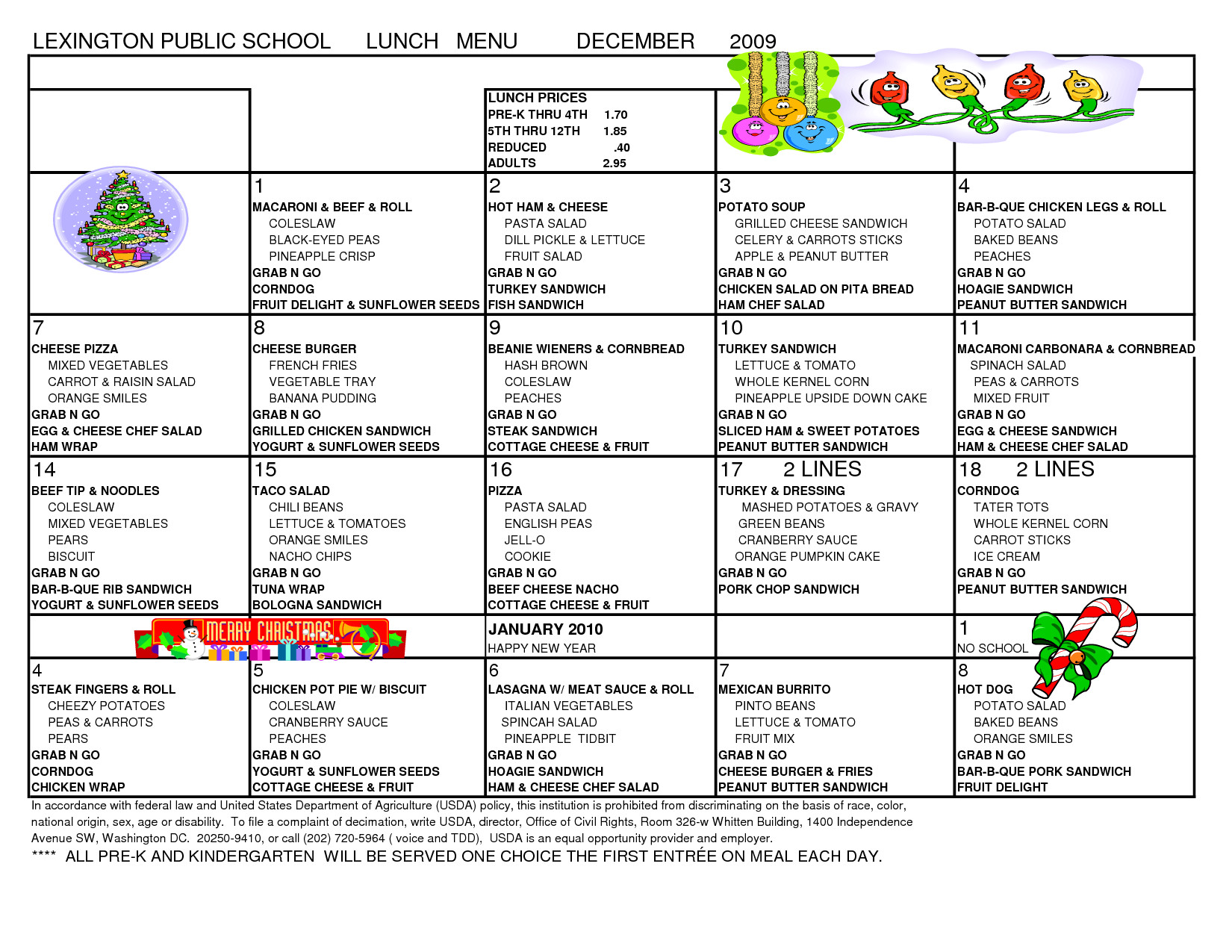School Lunch Menu Template Template for School Lunch Menu