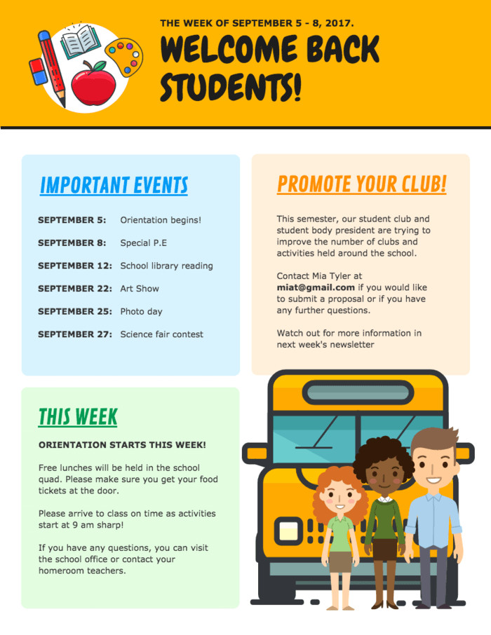 School Newsletter Templates Free 10 Types Of Visual Aids for Learning [ Teaching Aid