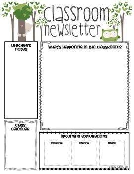 School Newsletter Templates Free Classroom Newsletter Classroom and Newsletter Templates