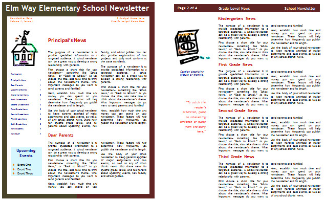 School Newsletter Templates Free School Newsletter Templates for Classroom and Parents
