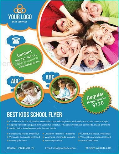School Picture Day Flyer Template 20 Professional Educational Psd School Flyer Templates