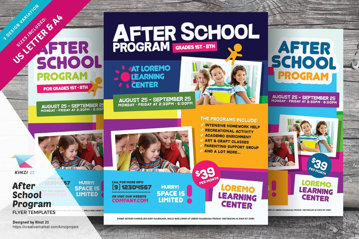 School Picture Day Flyer Template after School Program Flyer Templates Flyer Templates