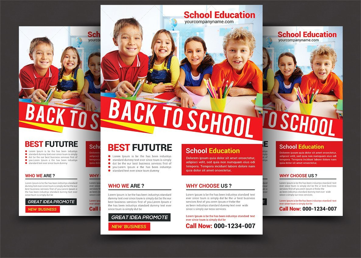 School Picture Day Flyer Template Back to School Flyer Flyer Templates Creative Market