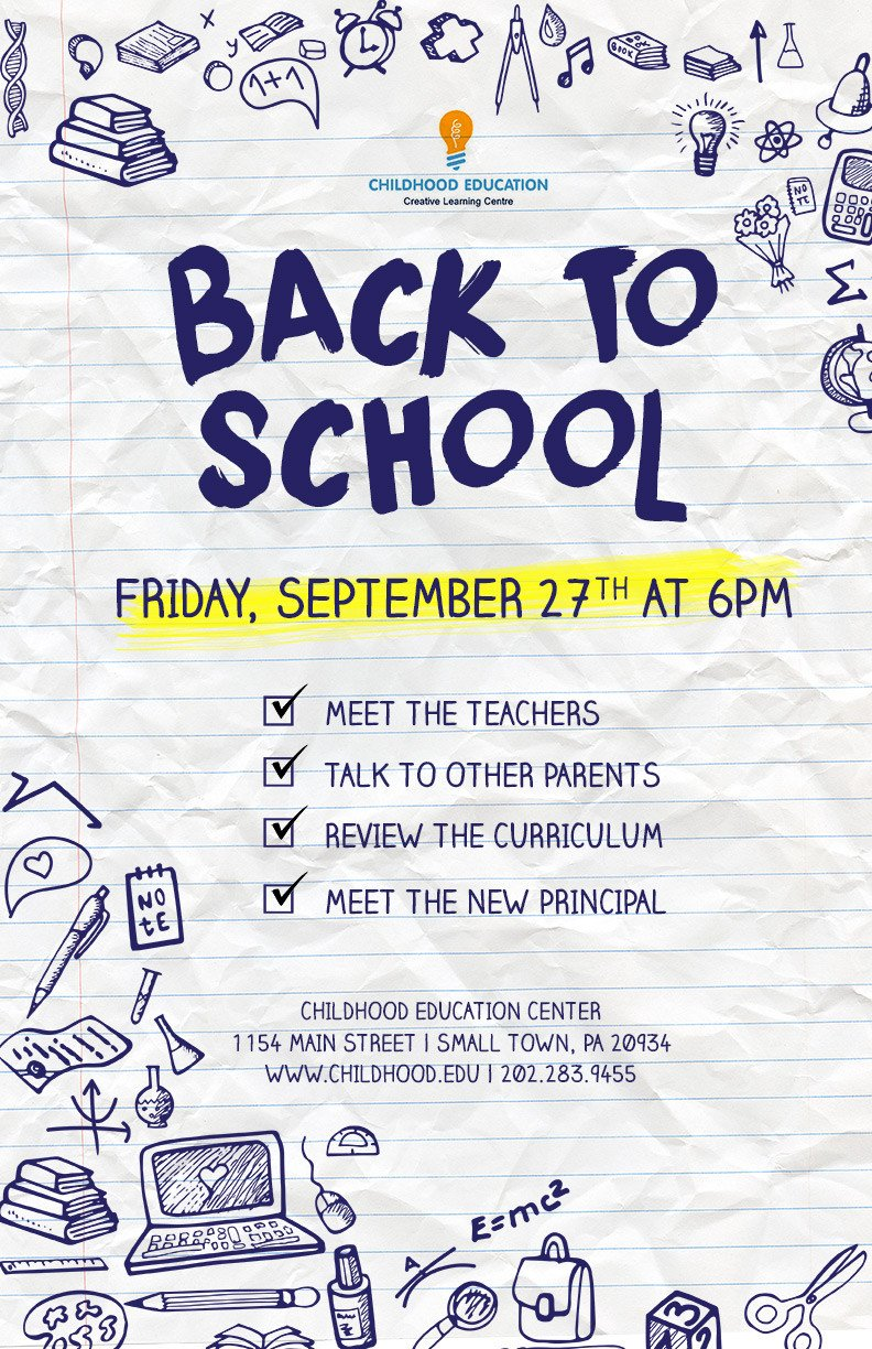 School Picture Day Flyer Template Back to School Flyer Psd Docx