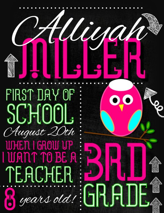 School Picture Day Flyer Template First Day Of School Template
