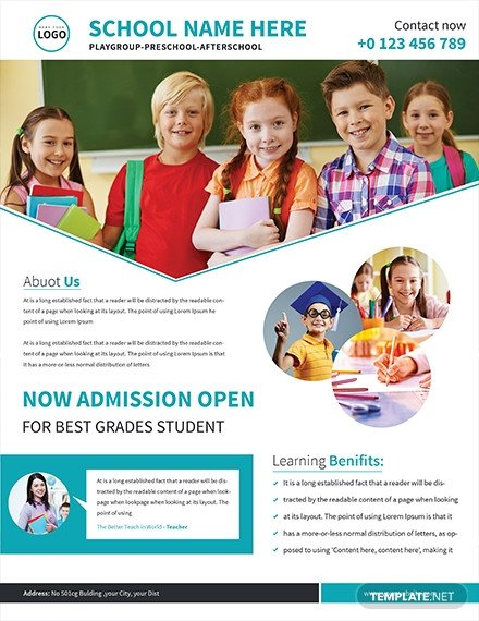 School Picture Day Flyer Template Free School Admission Flyer Template Download 646 Flyers