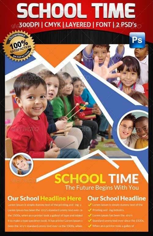 School Picture Day Flyer Template Graphicriver Junior School Education Flyer Template Bundle