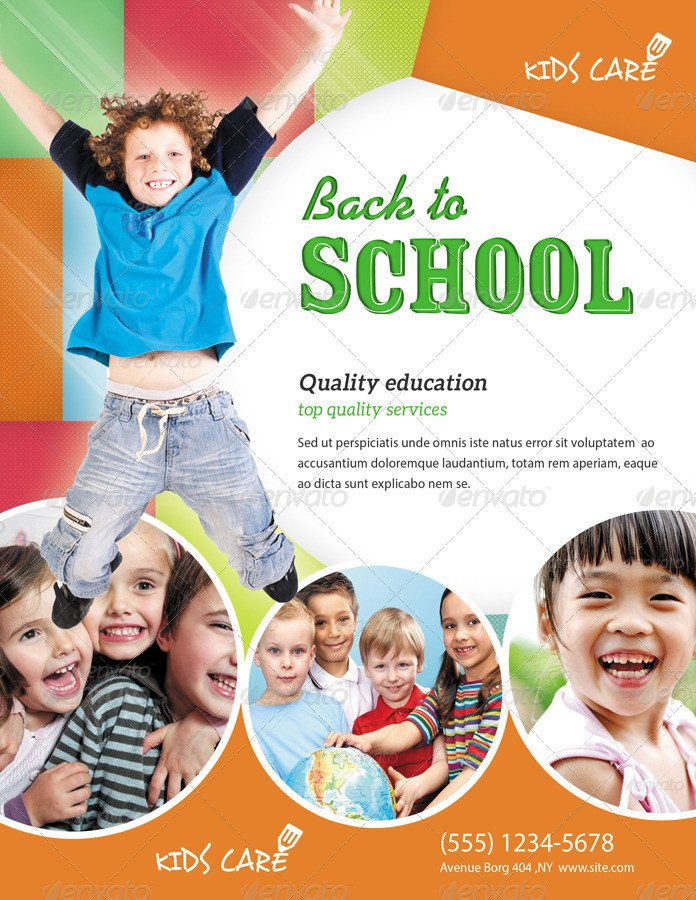 School Picture Day Flyer Template Kids School Flyer by Ingridk