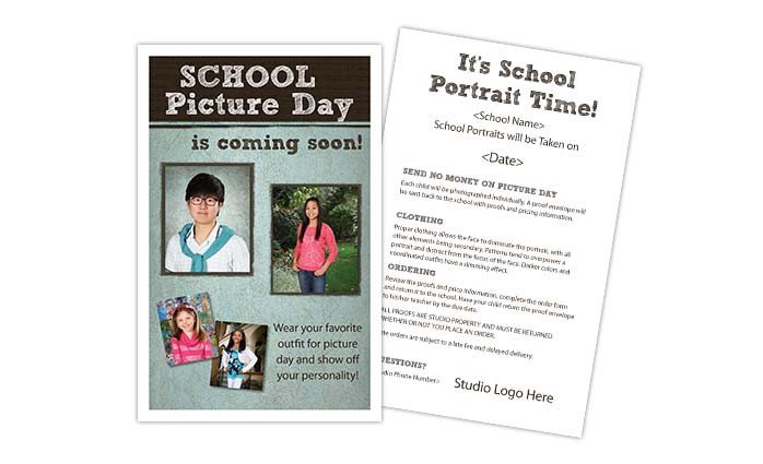 School Picture Day Flyer Template Picture Day Reminder Notice Details