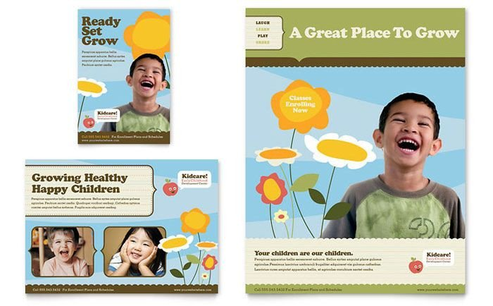 School Picture Day Flyer Template Preschool Advertising Ideas