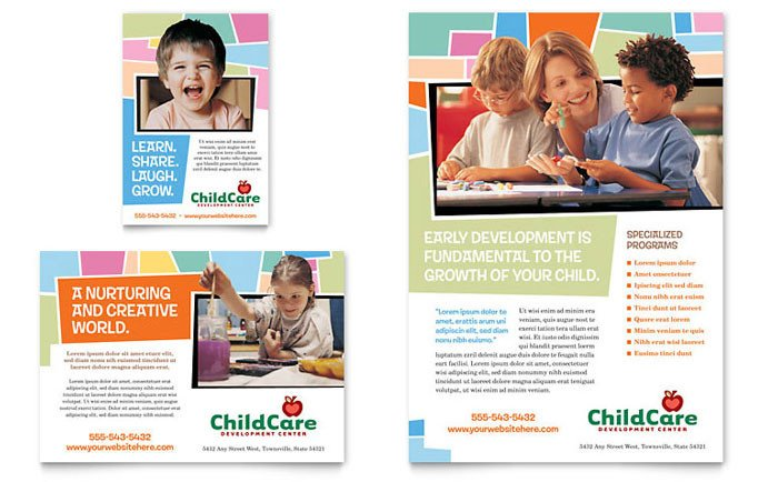 School Picture Day Flyer Template Preschool Kids & Day Care Flyer & Ad Template Design