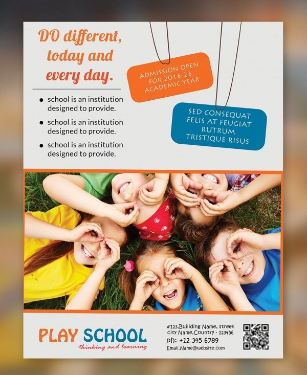 School Picture Day Flyer Template Psd Play School Flyer Template Free Download