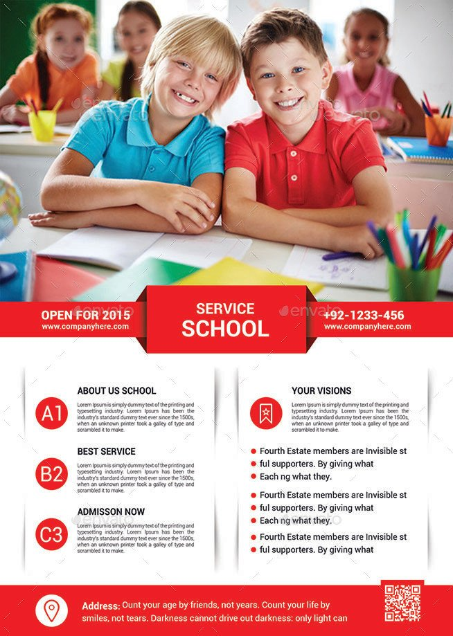 School Picture Day Flyer Template School Education Flyer Template by Afjamaal