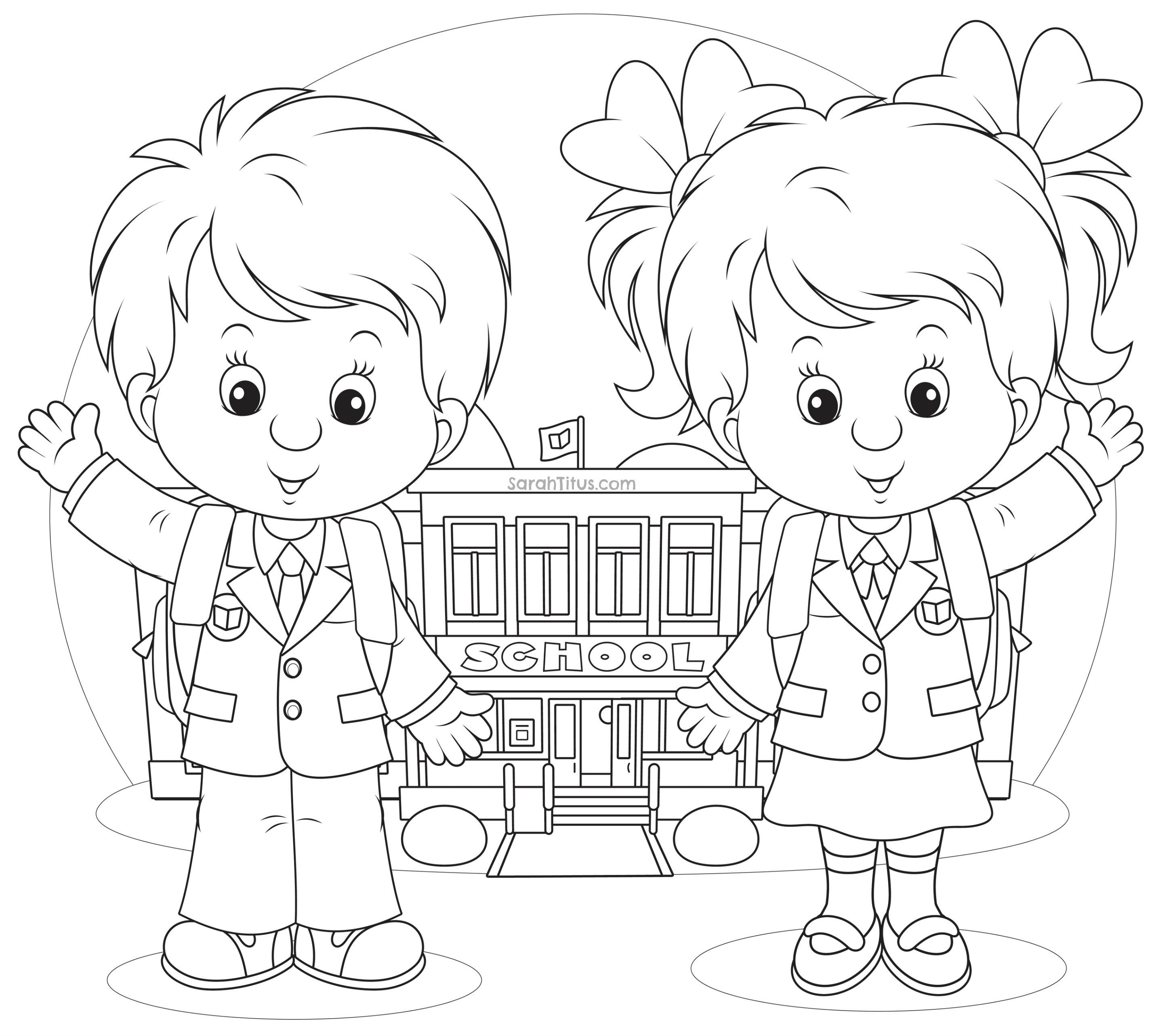 School Supplies Images to Color Back to School Coloring Pages Sarah Titus