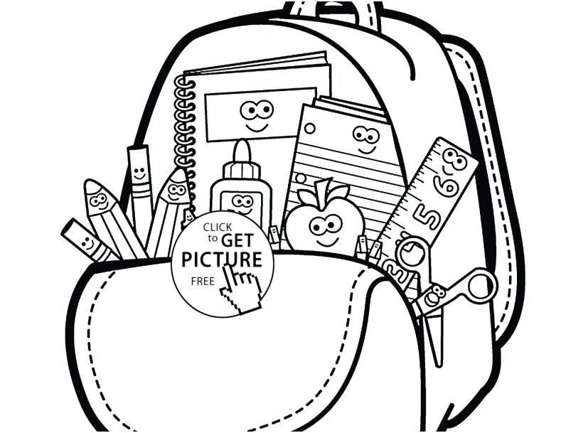 School Supplies Images to Color School Supplies Coloring Page Back to School Coloring