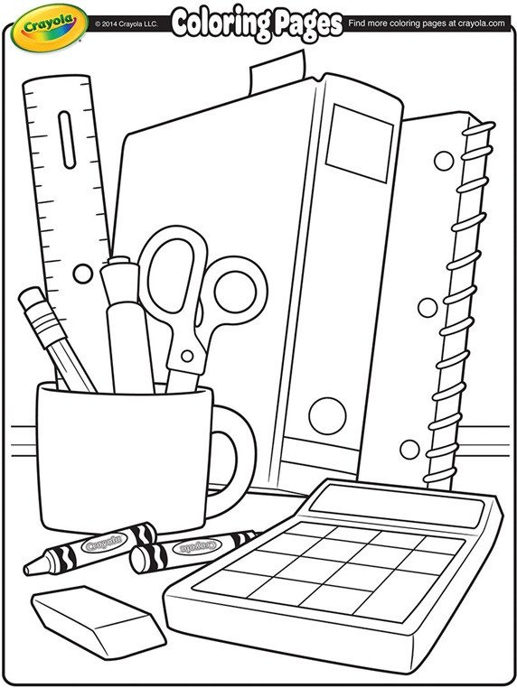 School Supplies Images to Color School Supplies Coloring Page
