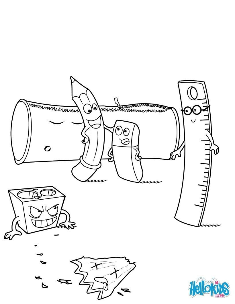 School Supplies Images to Color School Supplies Coloring Pages Hellokids
