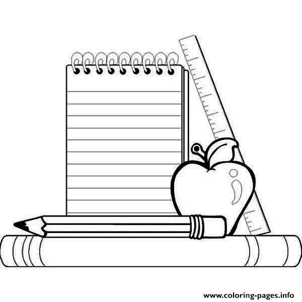 School Supplies Images to Color School Supplies Coloring Pages Printable