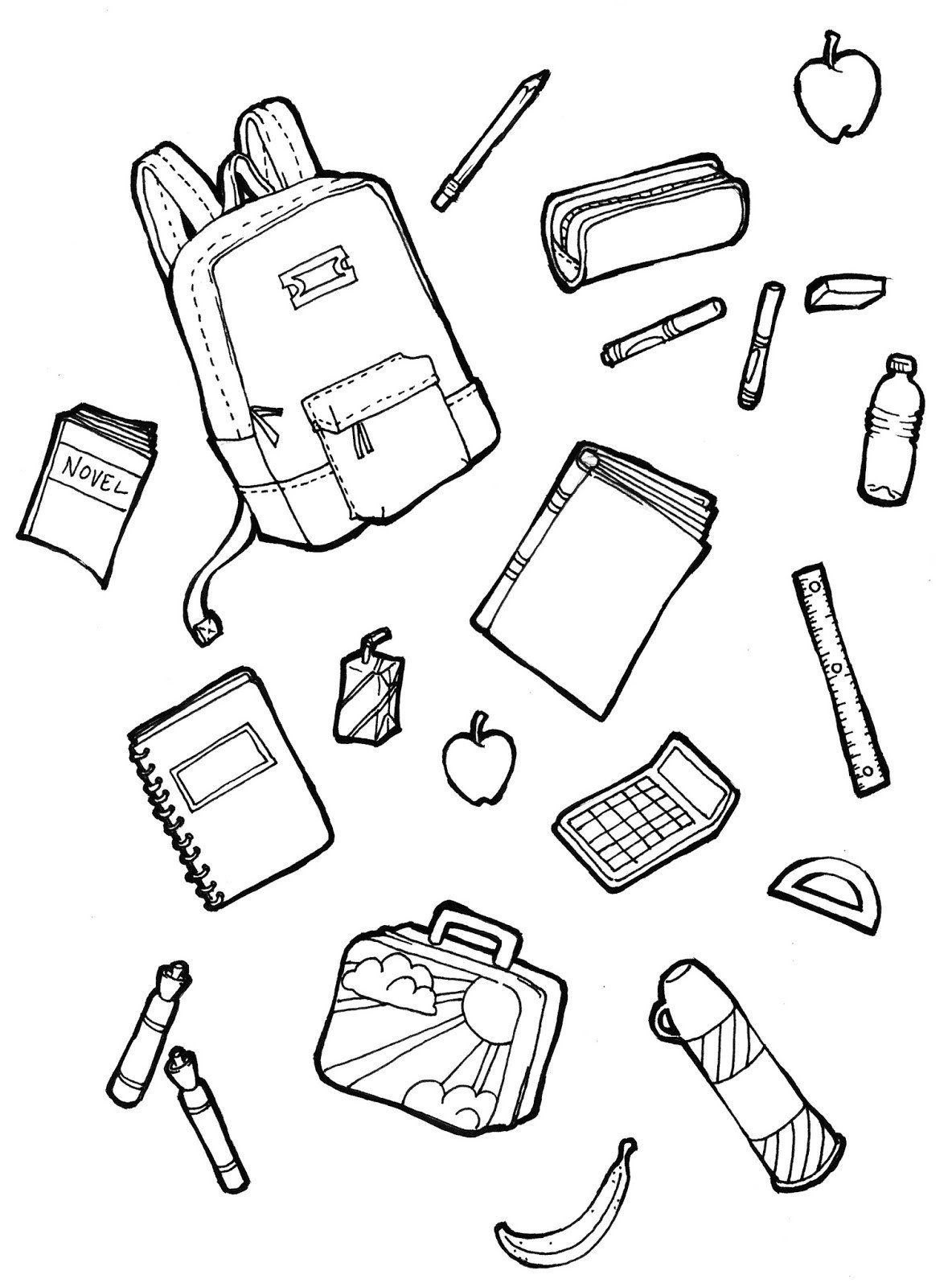 School Supplies Images to Color the Spinsterhood Diaries October 2015