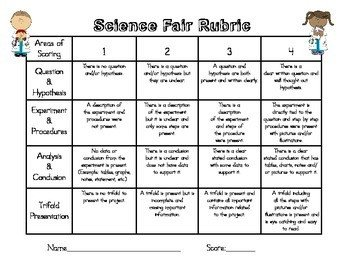 Science Project Rubric Template Science Fair Project Rubric by Fun Firsties