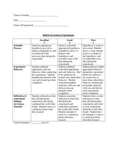 Science Project Rubric Template Science Fair Projects Rubrics Template Success