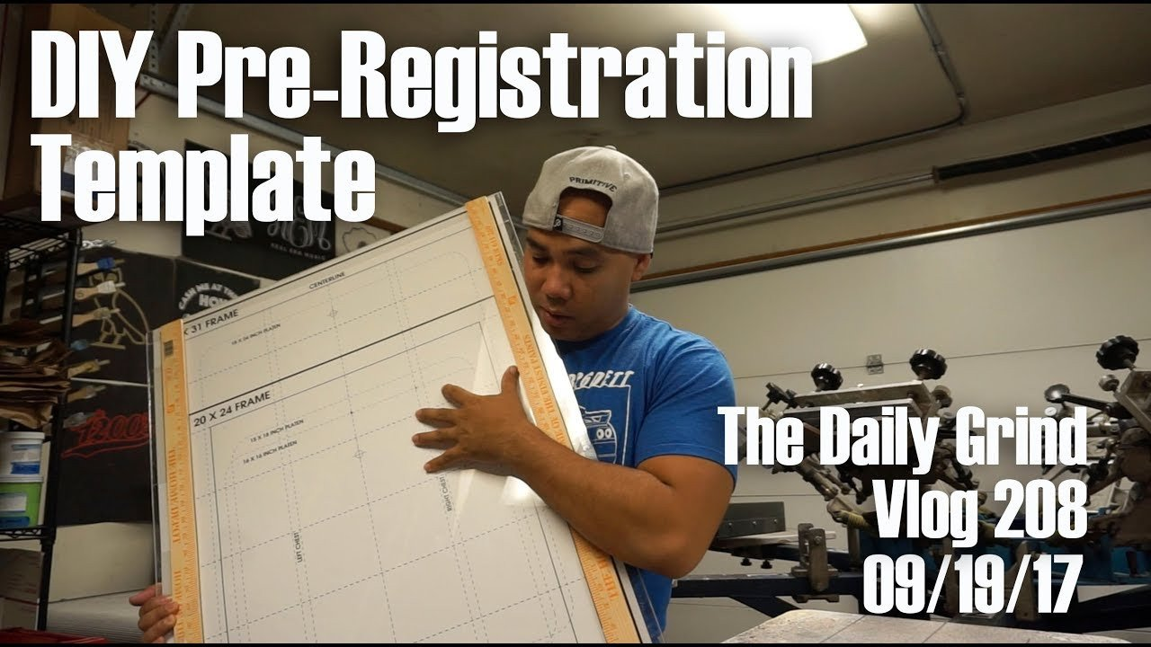 Screen Printing Registration Template Diy Pre Registration Template Screen Printing Vlog 208