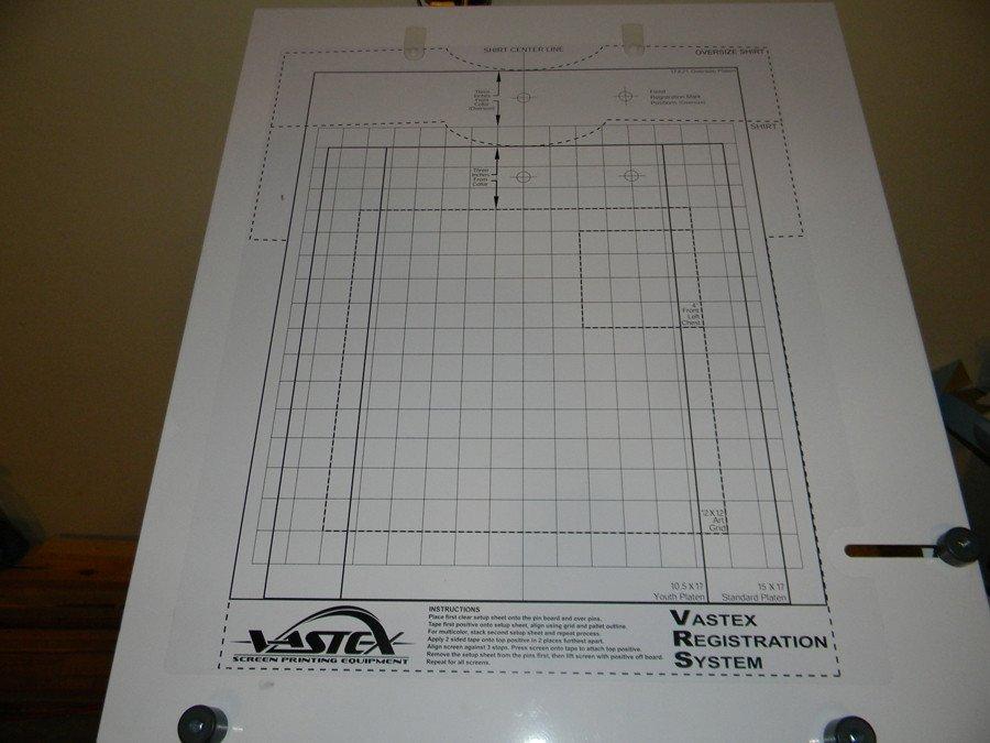 Screen Printing Registration Template Full Screen Printing Shop Vastex