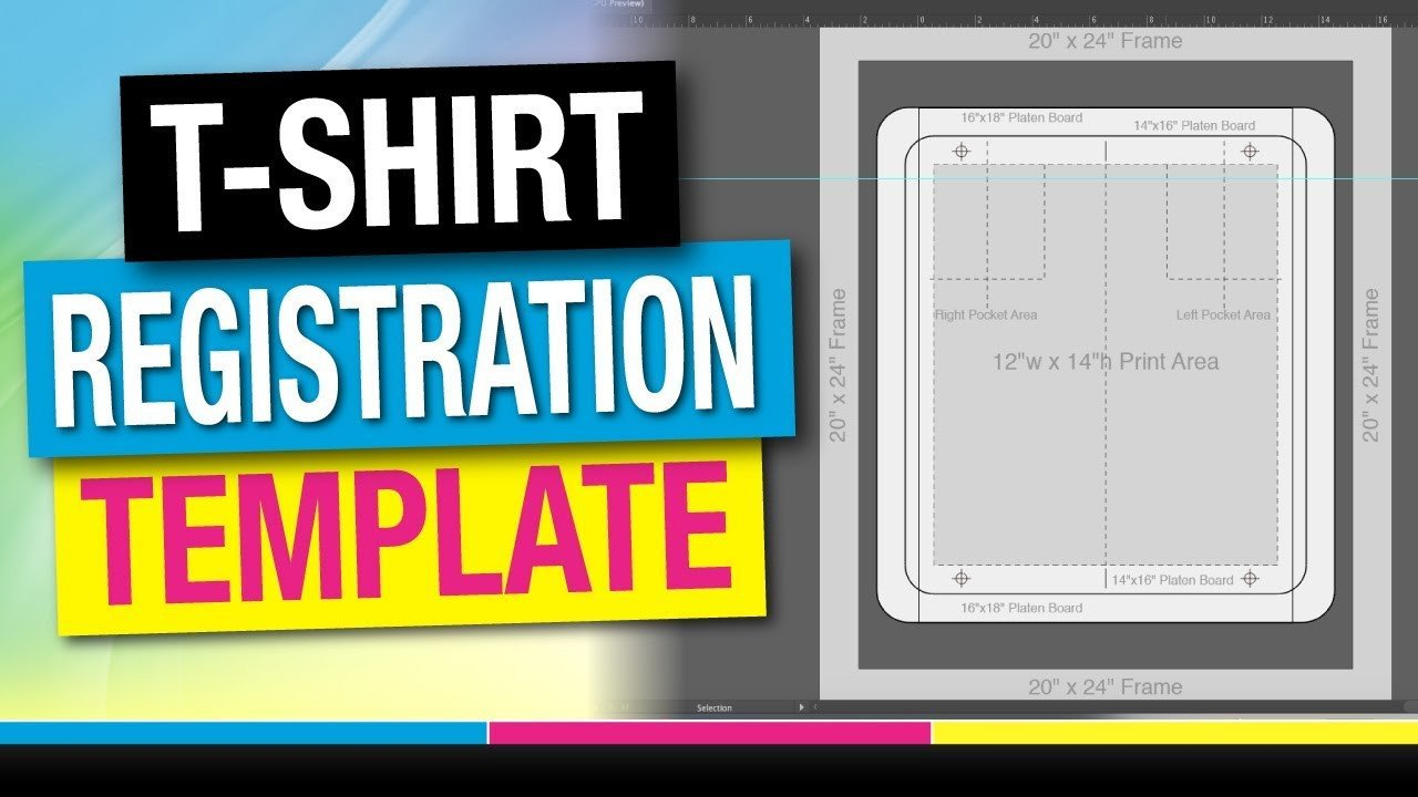 Screen Printing Registration Template How to Screen Print