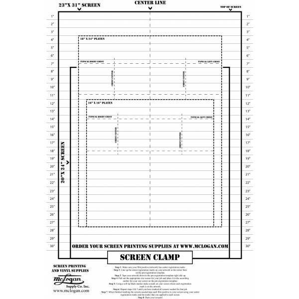 Screen Printing Registration Template Screen Printing