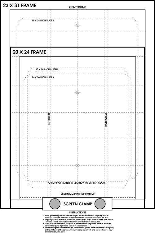Screen Printing Registration Template Screen Printing Pre Registration Template Poster Register
